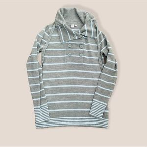 Twik Stripes Pullover Top Size: XS fits as Small